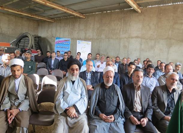 مراسم افتتاح و بهره برداري همزمان 14 پروژه بخش كشاورزي شهرستان به مناسبت هفته جهاد كشاورزي