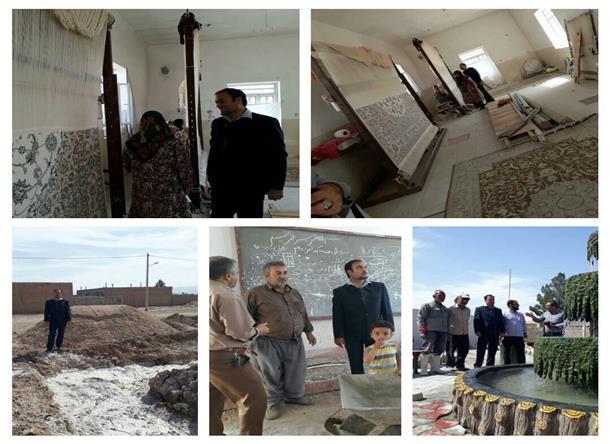 بازديد از طرح هاي در حال اجرا در روستاي دستگردان