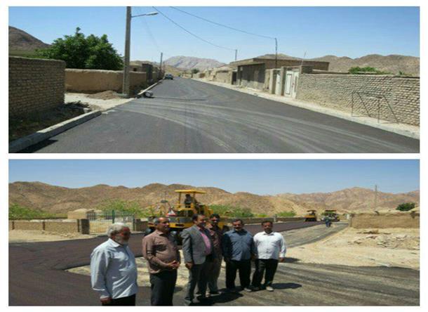 بازديد بخشدار و ر ئيس شوراي اسلامي بخش دستگردان از پروژه بهسازي معابر (اجراي طرح هادي) روستاي ملوند